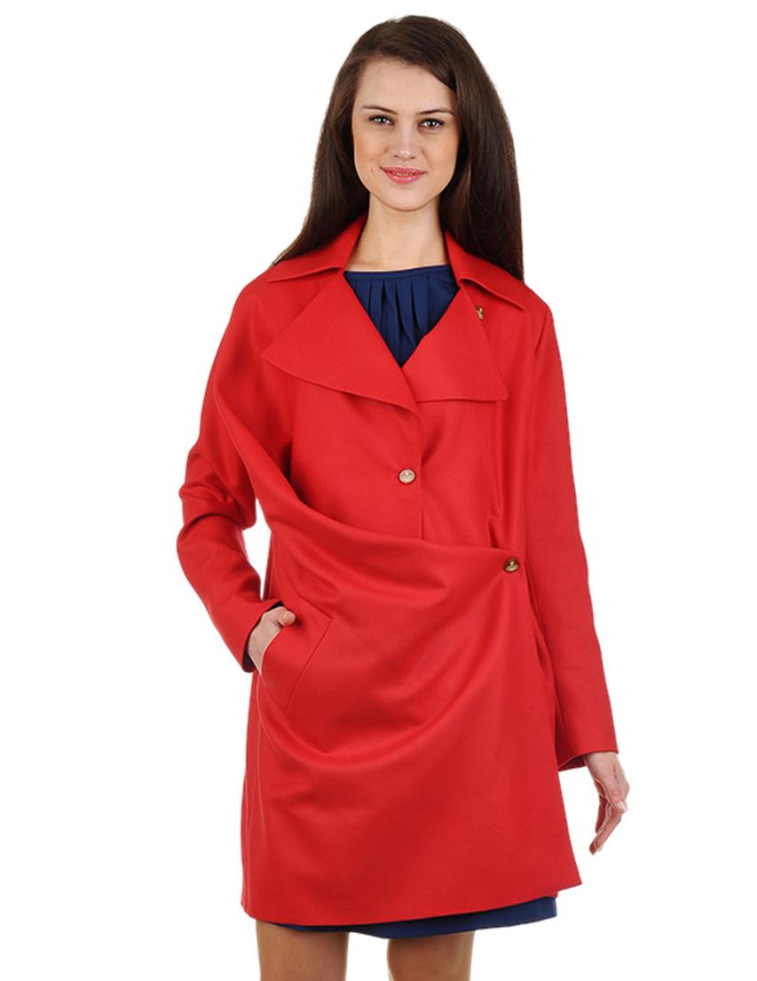 Купить Пальто, VIVIENNE WESTWOOD, Красный, 100%Шерсть, Осень-Зима