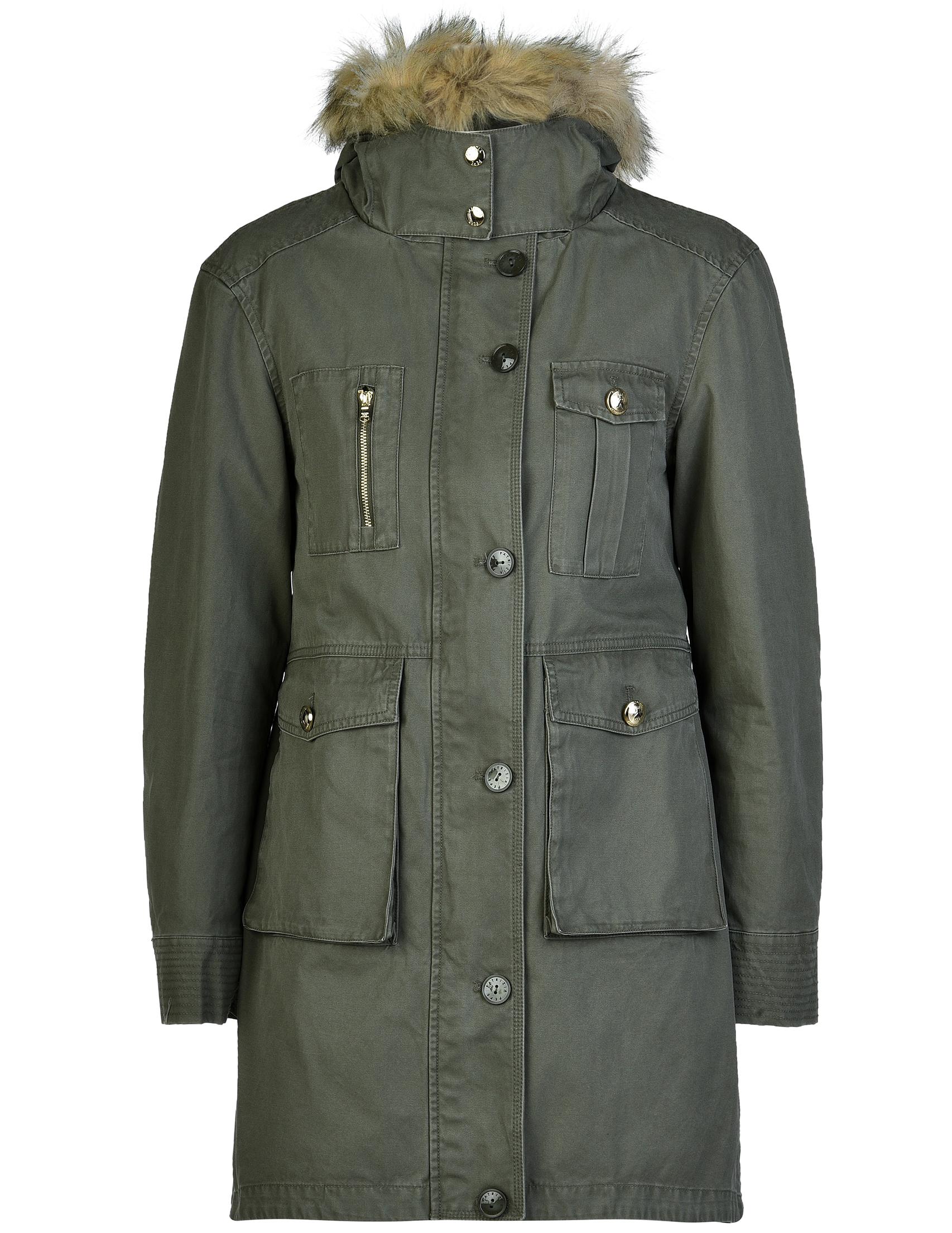 Купить Пальто, PATRIZIA PEPE, Зеленый, 100%Хлопок, Осень-Зима