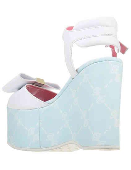 белые женские Босоножки Blumarine 4382-К-blu-logo_white 4725 грн