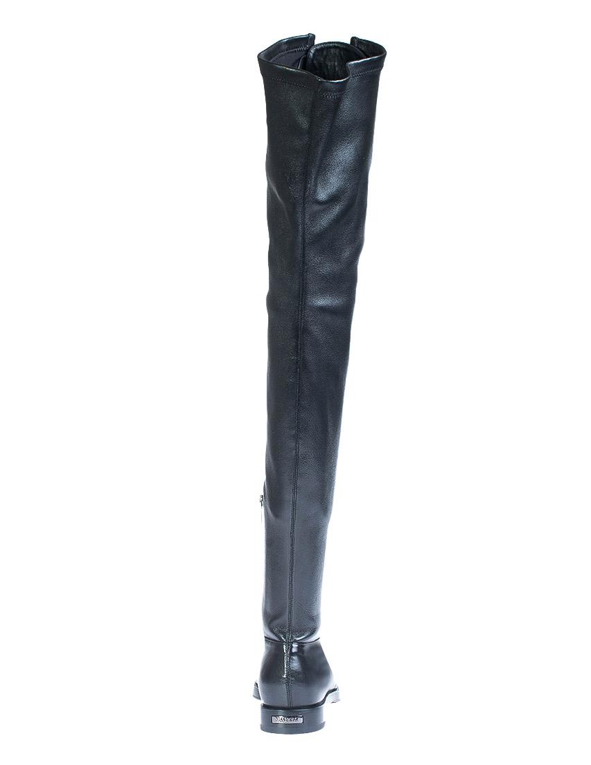 Фото 3 - женские сапоги  черного цвета