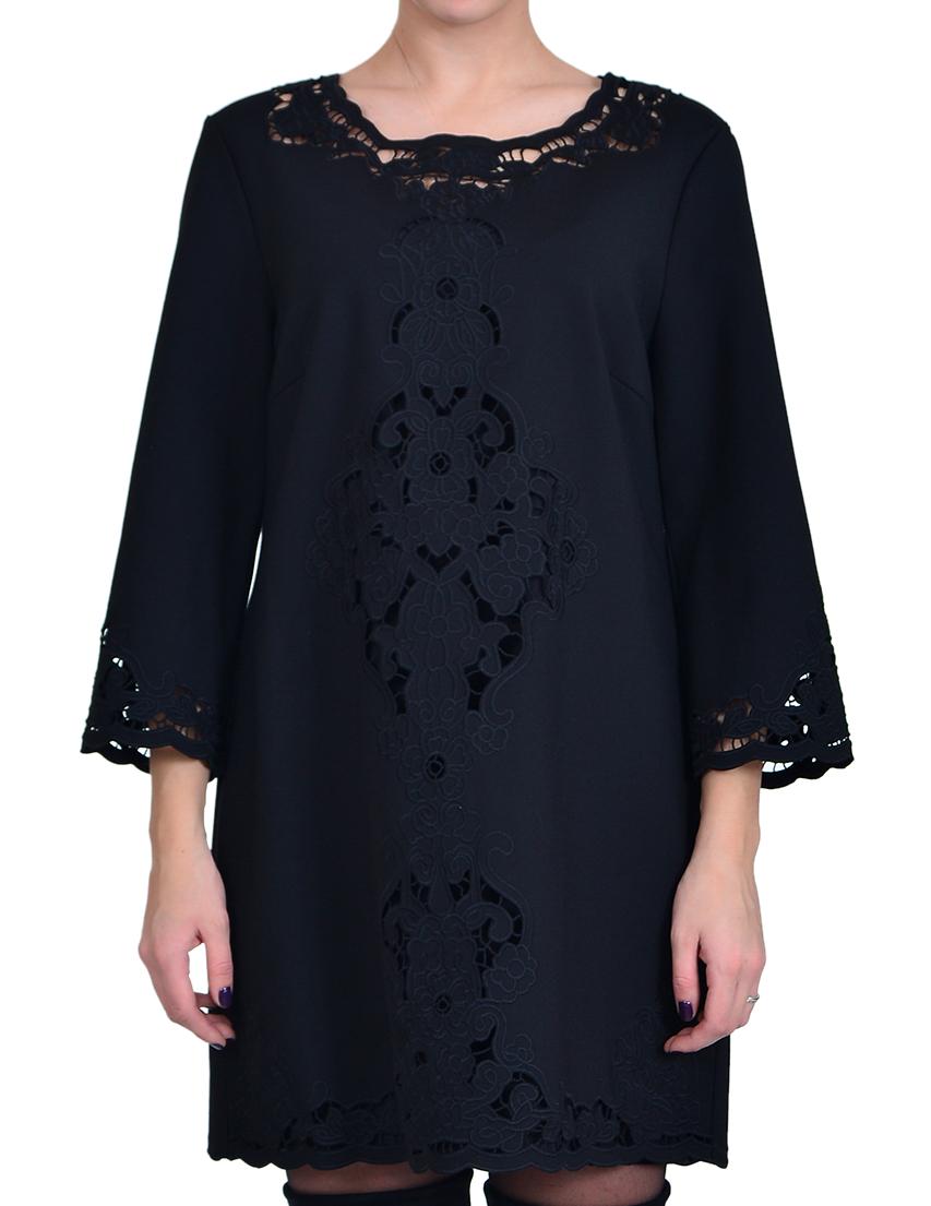 Купить Платье, IBLUES, Черный, 52%Полиамид 43%Вискоза 5%Эластан, Осень-Зима