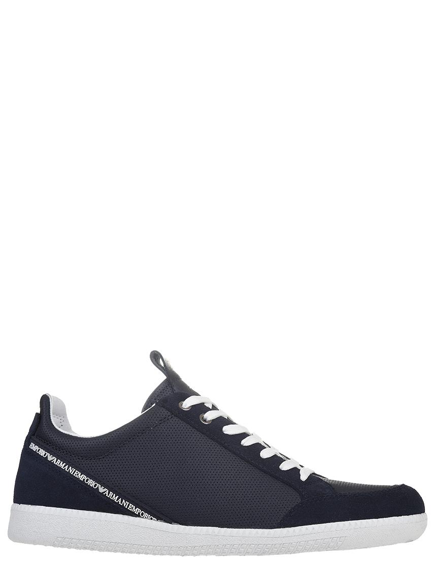 Мужские кроссовки Emporio Armani 213-КЗ-blunotte_blue