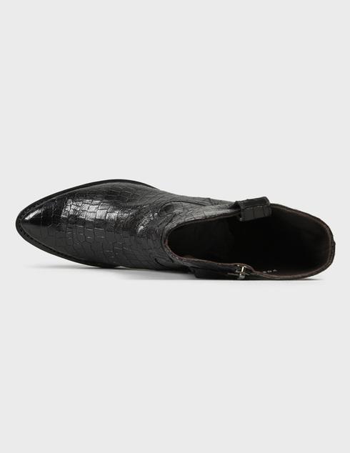 женские черные кожаные Полусапоги Pertini 202W40026D1 - фото-5
