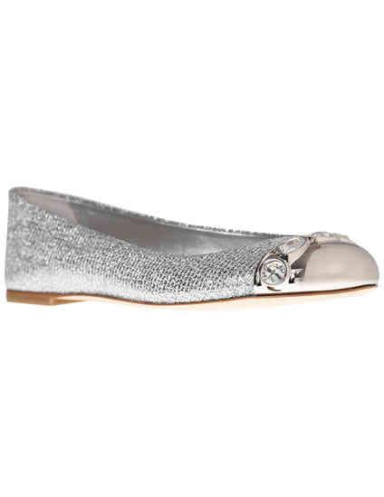 женские серебряные Балетки Casadei 084_silver - фото-2
