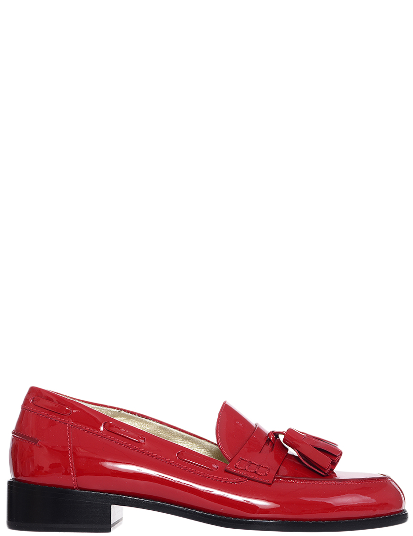 Лоферы, INES DE LA FRESSANGE, Красный, Весна-Лето  - купить со скидкой