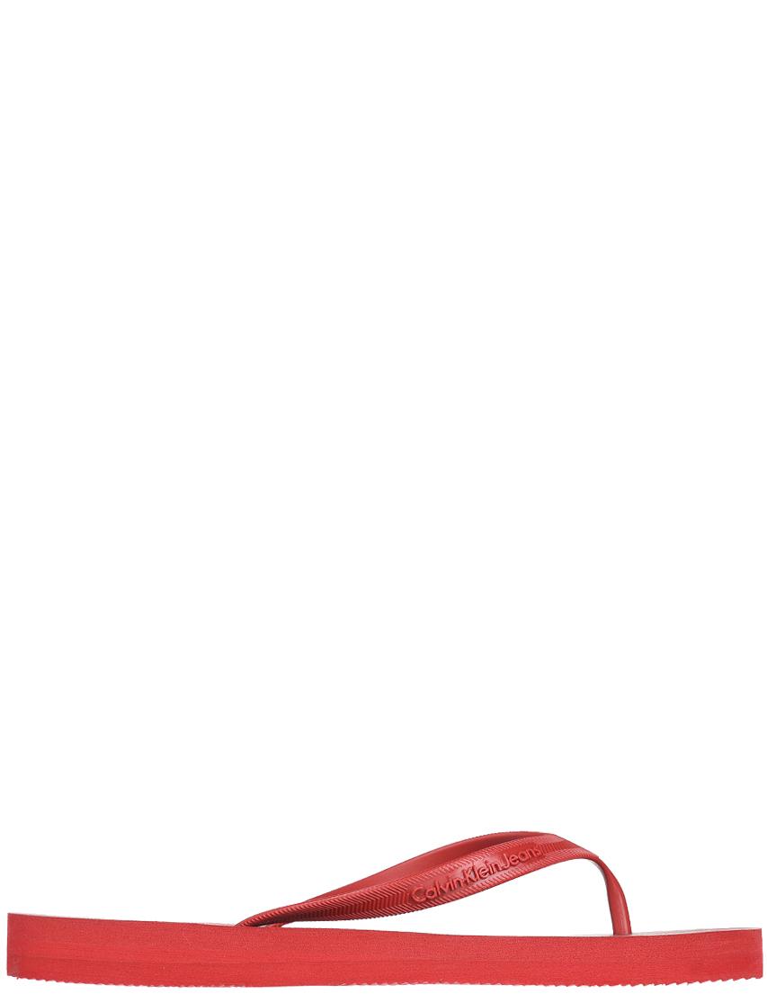 Купить Пантолеты, CALVIN KLEIN JEANS, Красный, Весна-Лето