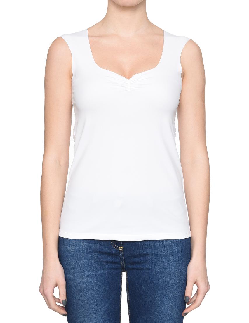 Купить Блуза, PATRIZIA PEPE, Белый, 32%Эластан 68%Полиамид, Весна-Лето