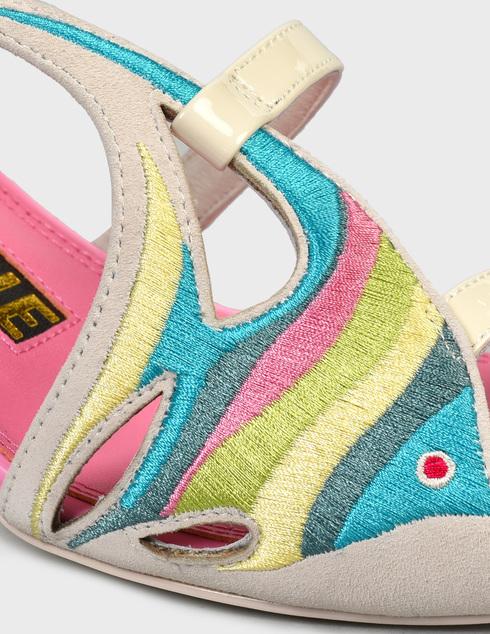 женские многоцветные замшевые Босоножки Kat Maconie DORY - фото-5