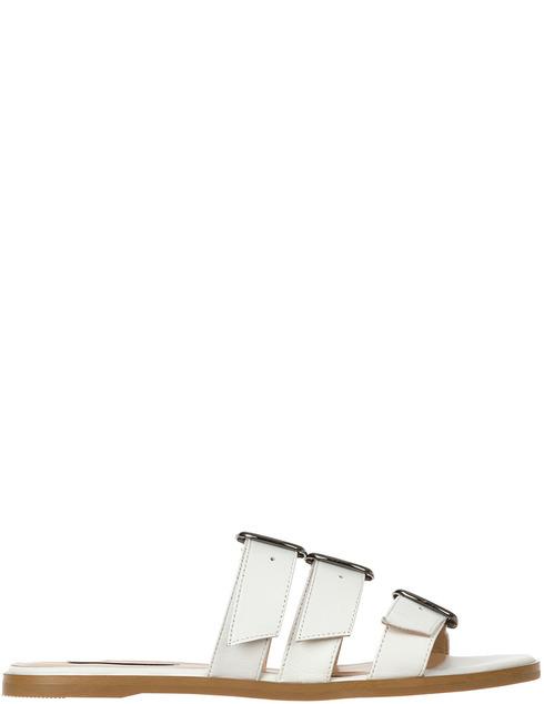 женские белые кожаные Шлепанцы Patrizia Pepe AGR-2V8741/A5B4-W146 - фото-5
