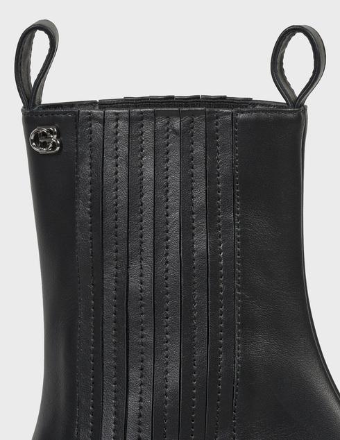 женские черные кожаные Ботинки Baldinini D2B620VIGE0000 - фото-5