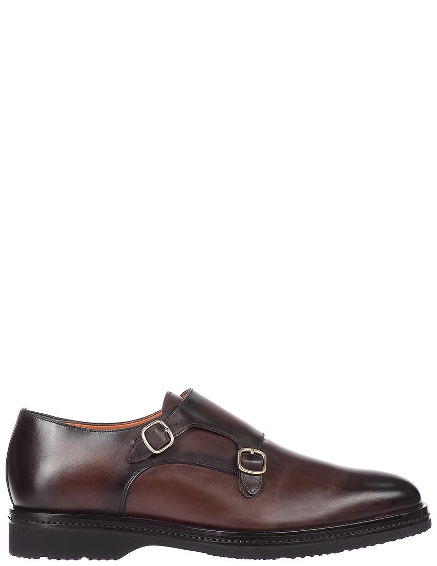 Мужские монки Santoni S15046_brown