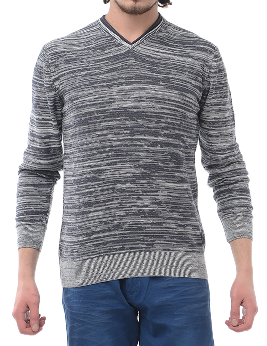 Мужской пуловер ARMANI JEANS 3063-grey