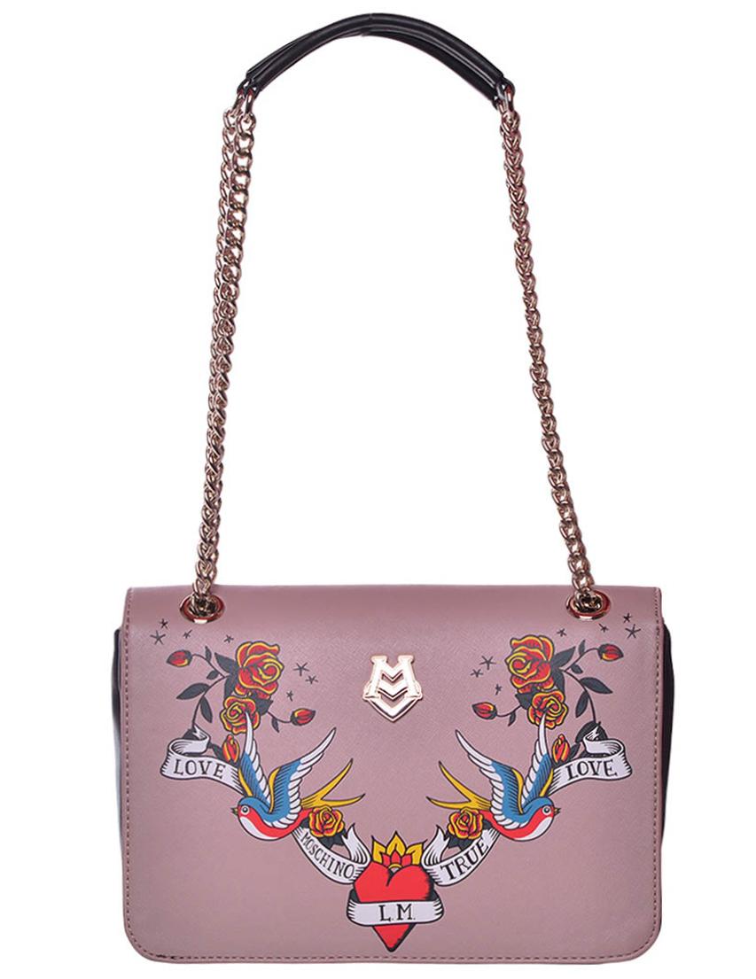 Купить Женские сумки, Сумка, LOVE MOSCHINO, Розовый, Осень-Зима