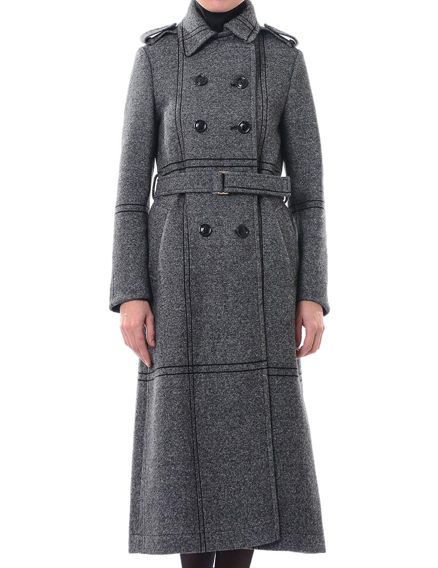 Купить Пальто, PATRIZIA PEPE, Серый, 35%Хлопок 45%Вискоза 20%Лана, Осень-Зима