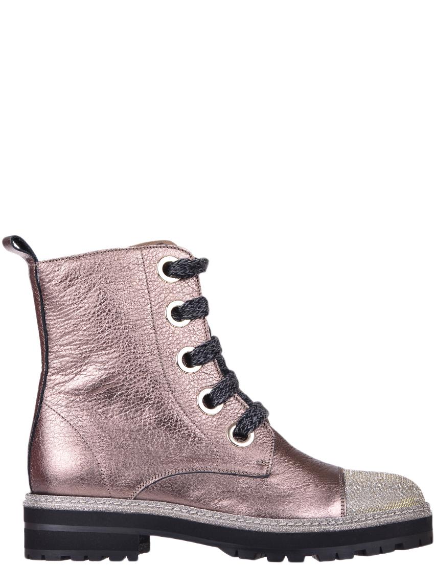 Купить Ботинки, PERTINI, Золотой, Осень-Зима