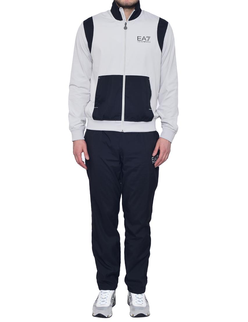 Купить Спортивный костюм, EA7 EMPORIO ARMANI, Черный, Серый, 97%Полиэстер 3%Эластан, Весна-Лето