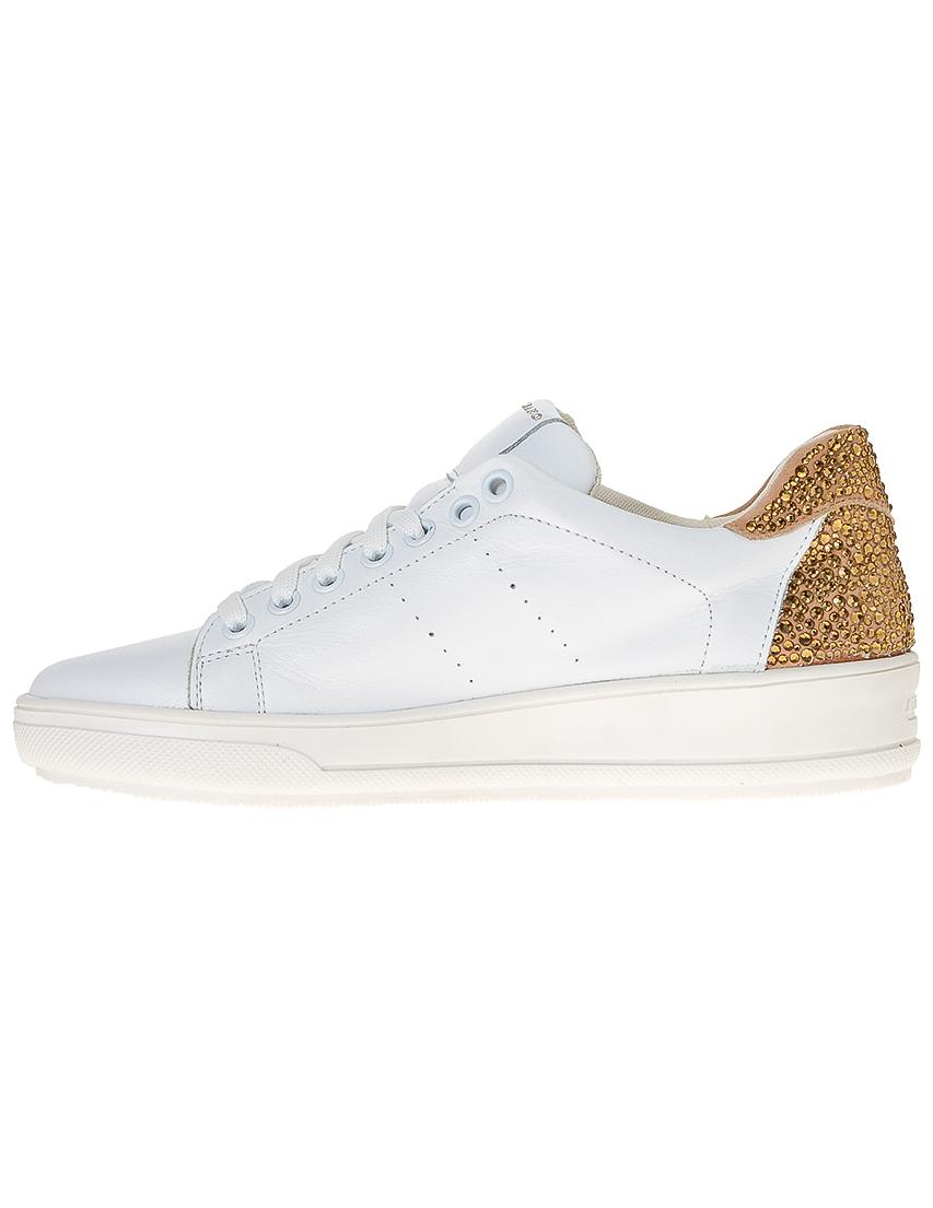 Фото 3 - женские кроссовки  белого цвета