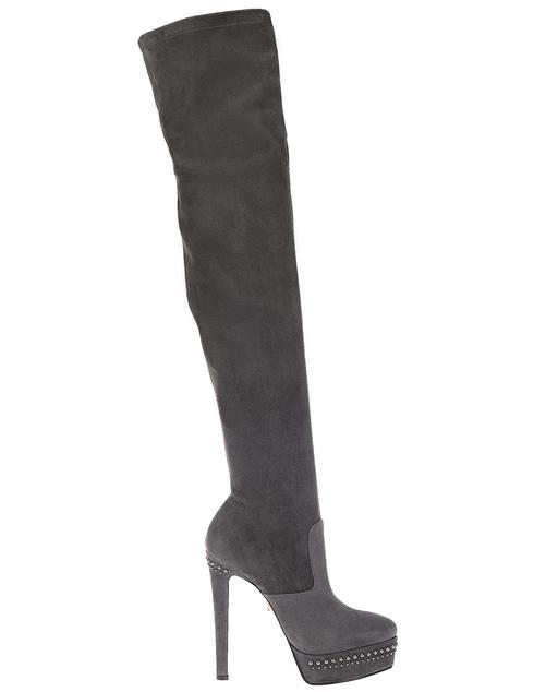 серые Ботфорты Le Silla 409_gray размер - 37; 38