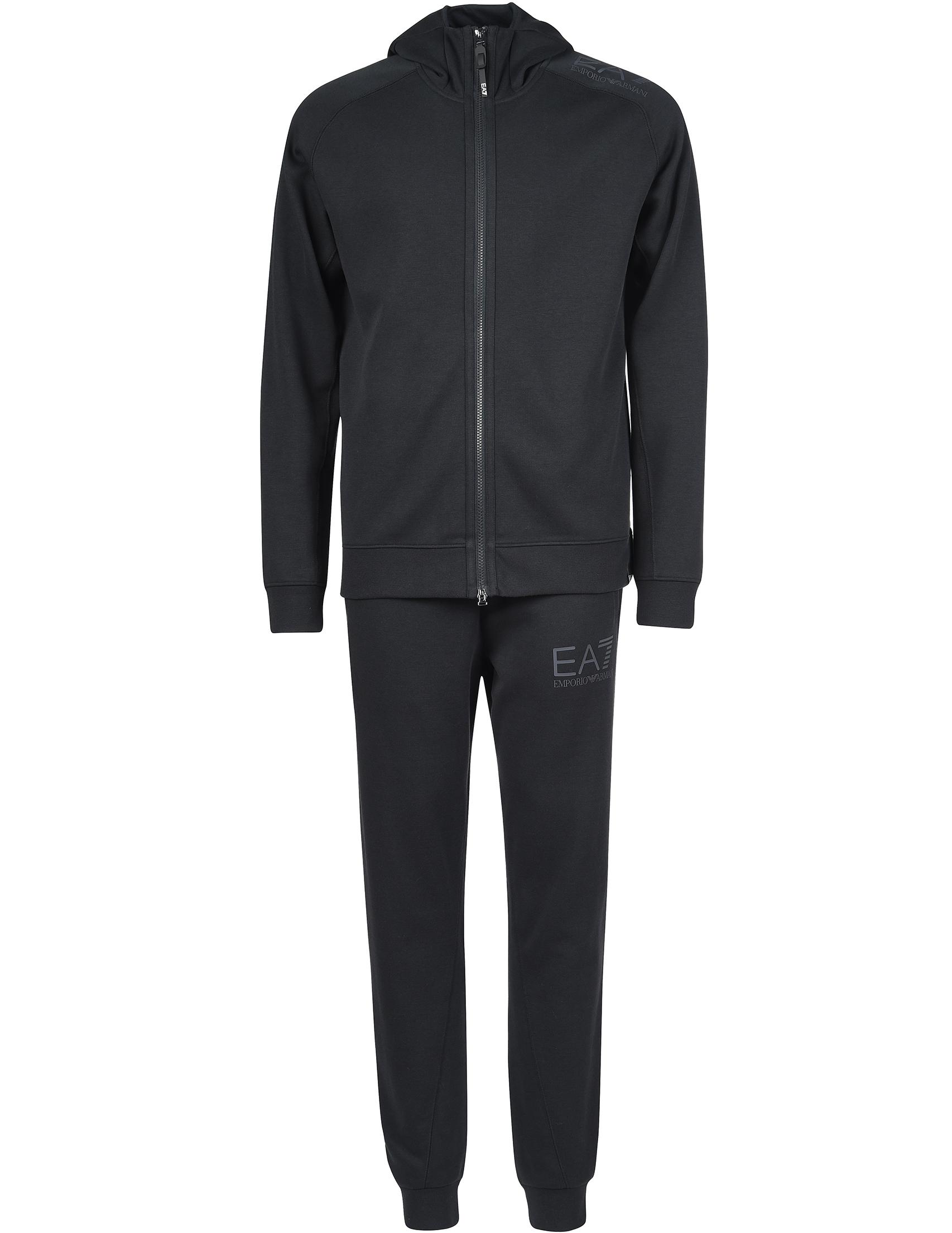Купить Спортивный костюм, EA7 EMPORIO ARMANI, Черный, 72%Хлопок 28%Полиэстер, Осень-Зима