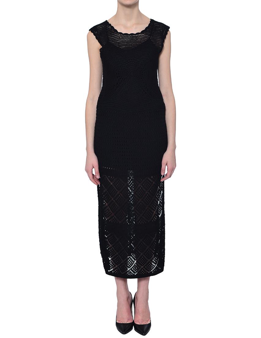 Купить Платье, TWIN-SET, Черный, 100%Хлопок, Весна-Лето