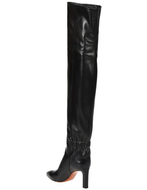 женские черные Ботфорты Santoni SWSKK57445HI2CSCKN01_black - фото-2