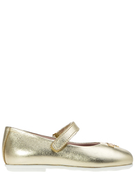 Детские туфли для девочек Moschino 25795-laminato-platino_gold