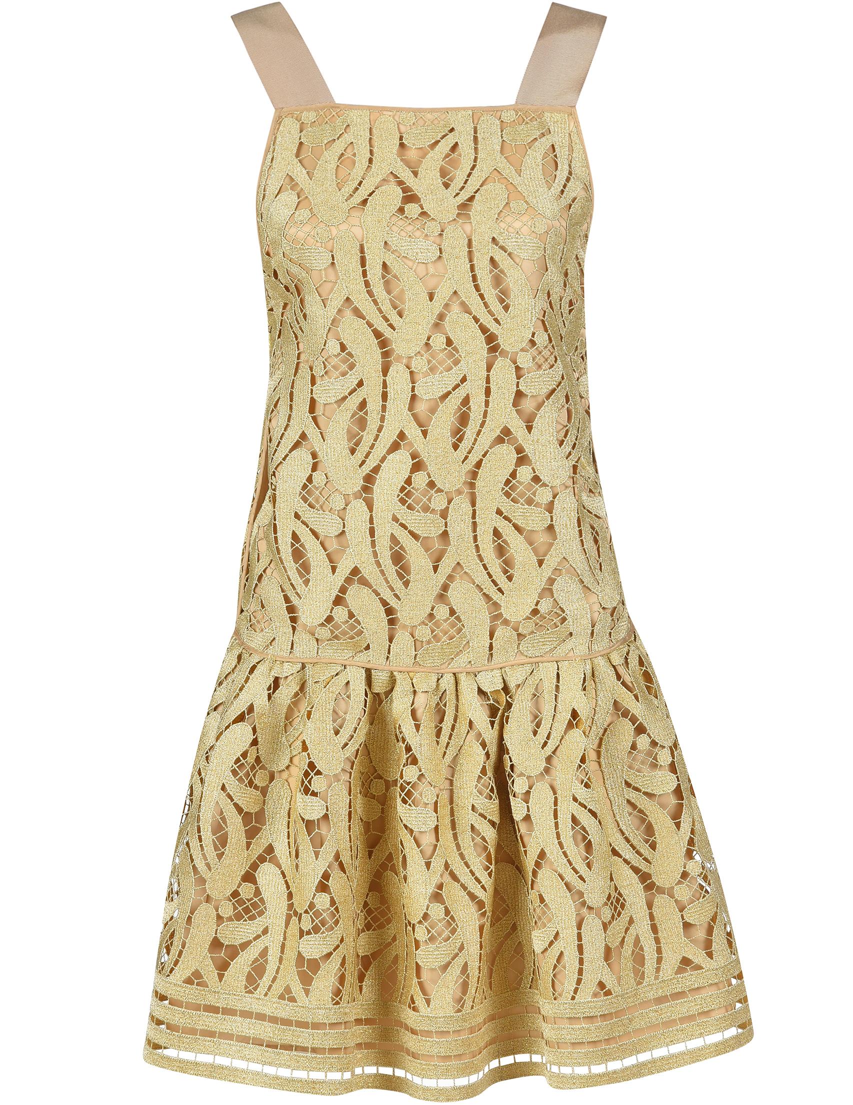 Купить Платье, N°21, Золотой, 100%Вискоза;75%Полиэстер 25%Металлическое волокно, Весна-Лето