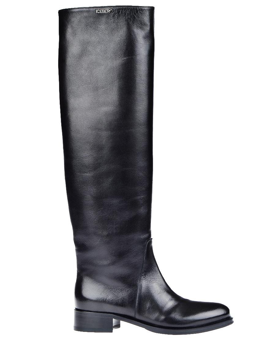 Фото - женские ботфорты  черного цвета
