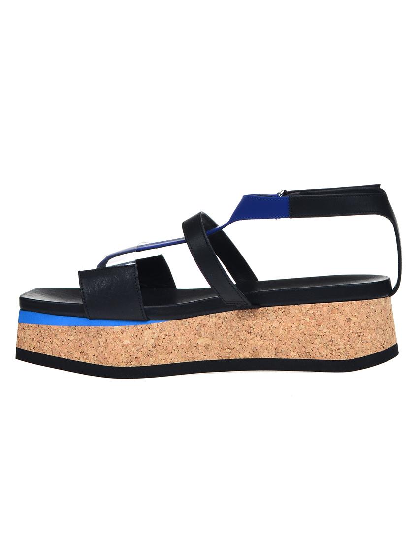 Фото 3 - женские сандали  черного цвета