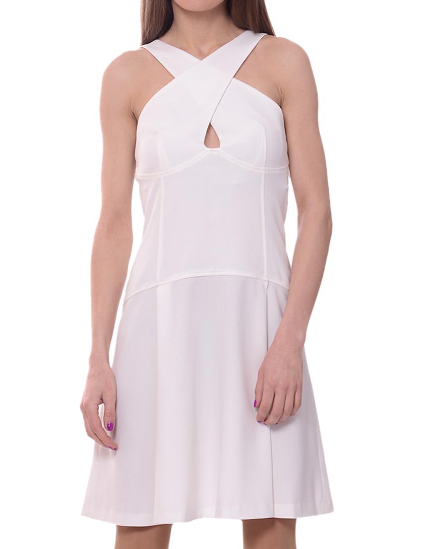 Купить Платье, TRUSSARDI JEANS, Белый, 23%Вискоза 2%Эластан 75%Полиэстер, Весна-Лето