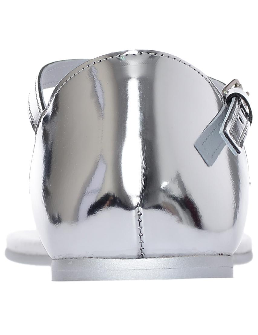 Фото 2 - женские сандали  серебрянного цвета