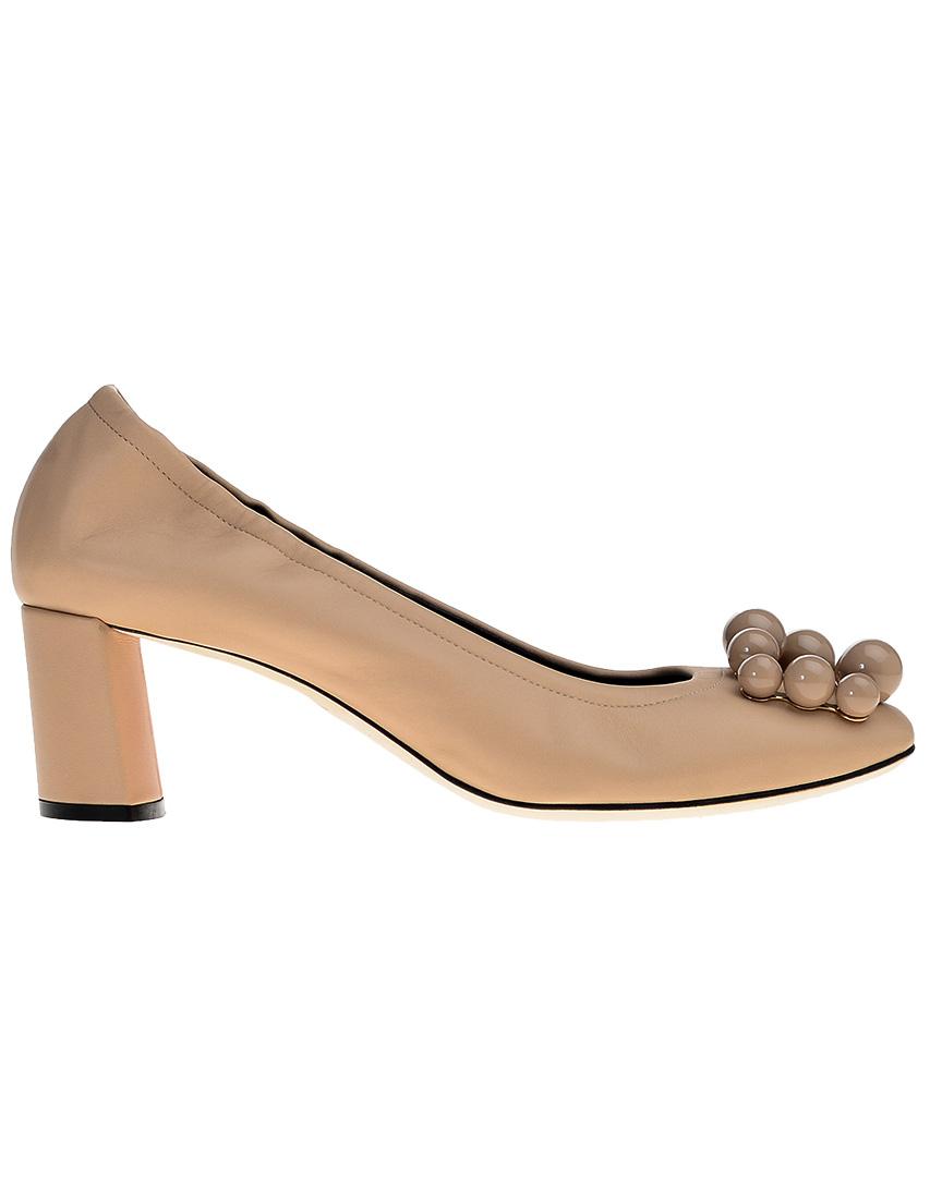 Фото 7 - женские туфли  бежевого цвета