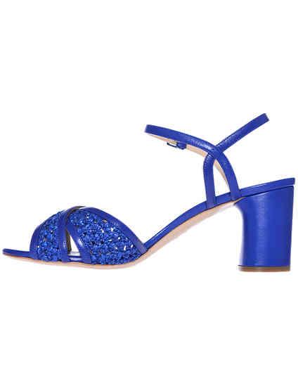 синие женские Босоножки Casadei 362_blue 9870 грн