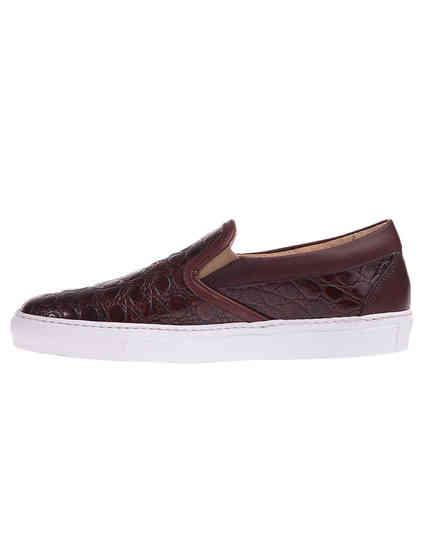 женские коричневые кожаные Слипоны MCM 85111_brown - фото-5