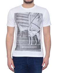 Мужская футболка TRUSSARDI JEANS 52T49-01_white