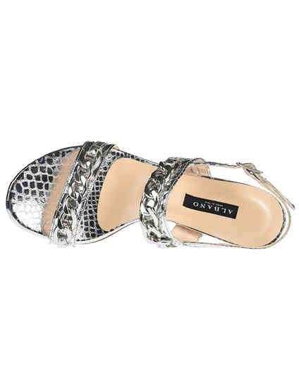 серебряные Босоножки Albano 9597_silver размер - 36; 37