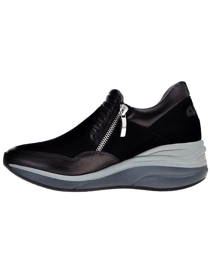 Замшевые чёрные кроссовки CESARE PACIOTTI (ITALY)