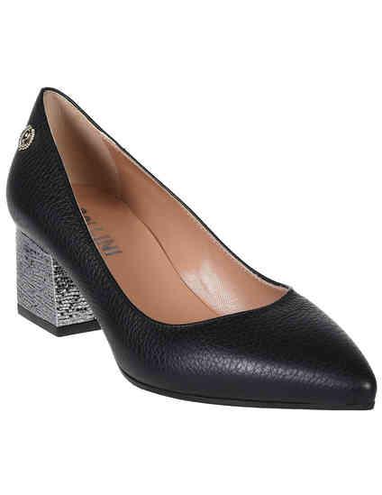 женские черные Туфли Pollini 1038_black - фото-2