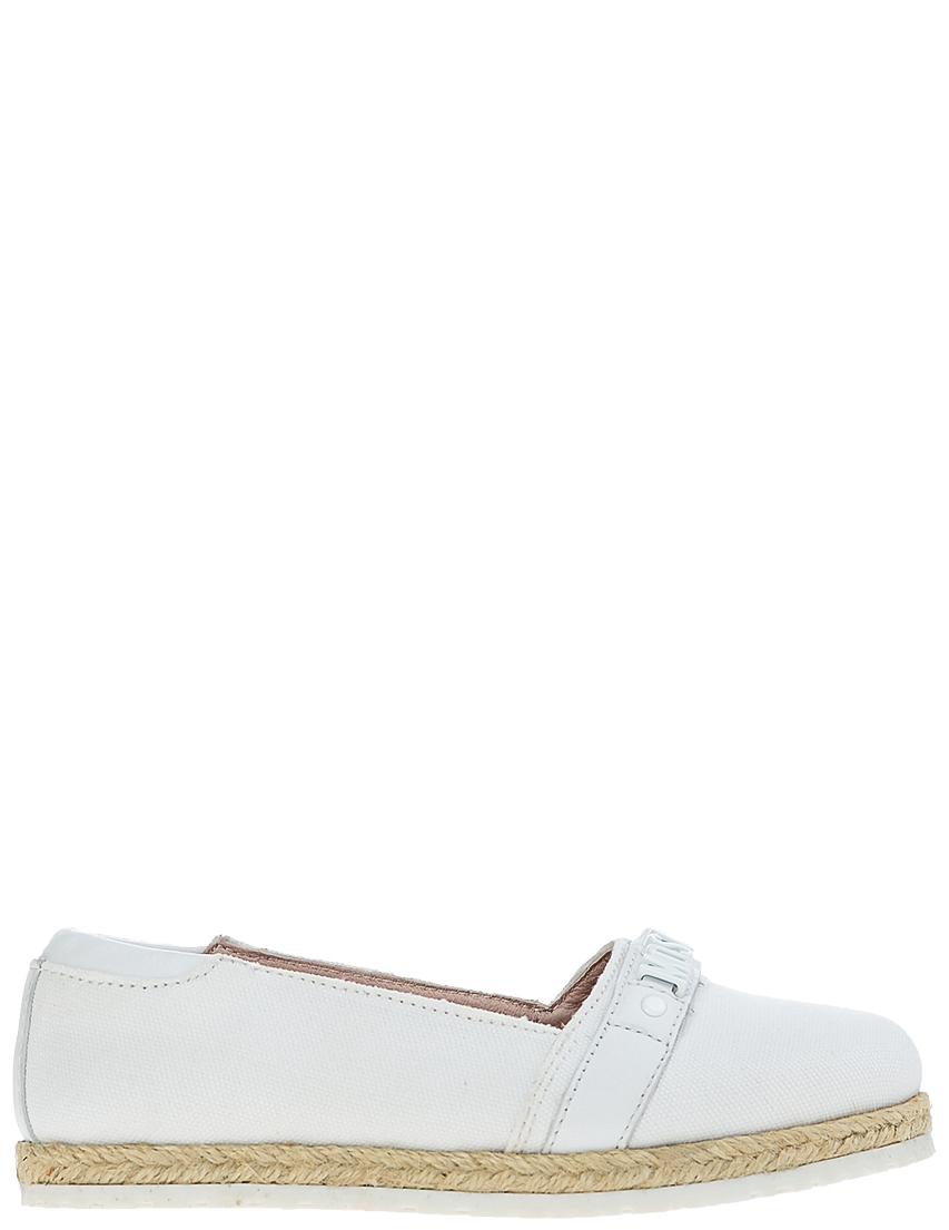Детские мокасины для девочек Moschino 25832-vitello-bianco_white