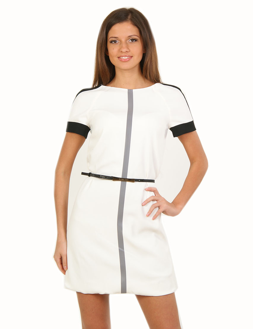 Купить Платье, PATRIZIA PEPE, Белый, 57%Ацетат 43%Вискоза, Весна-Лето