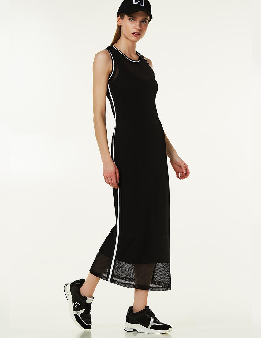Купить Платье, LIU JO, Черный, 92%Полиамид 8%Эластан;95%Хлопок 5%Эластан, Весна-Лето