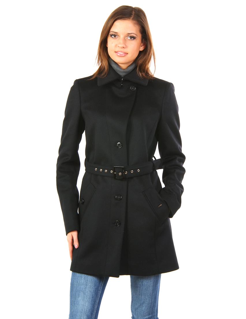 Купить Пальто, PATRIZIA PEPE, Черный, 10%Кашемир 90%Лана, Осень-Зима