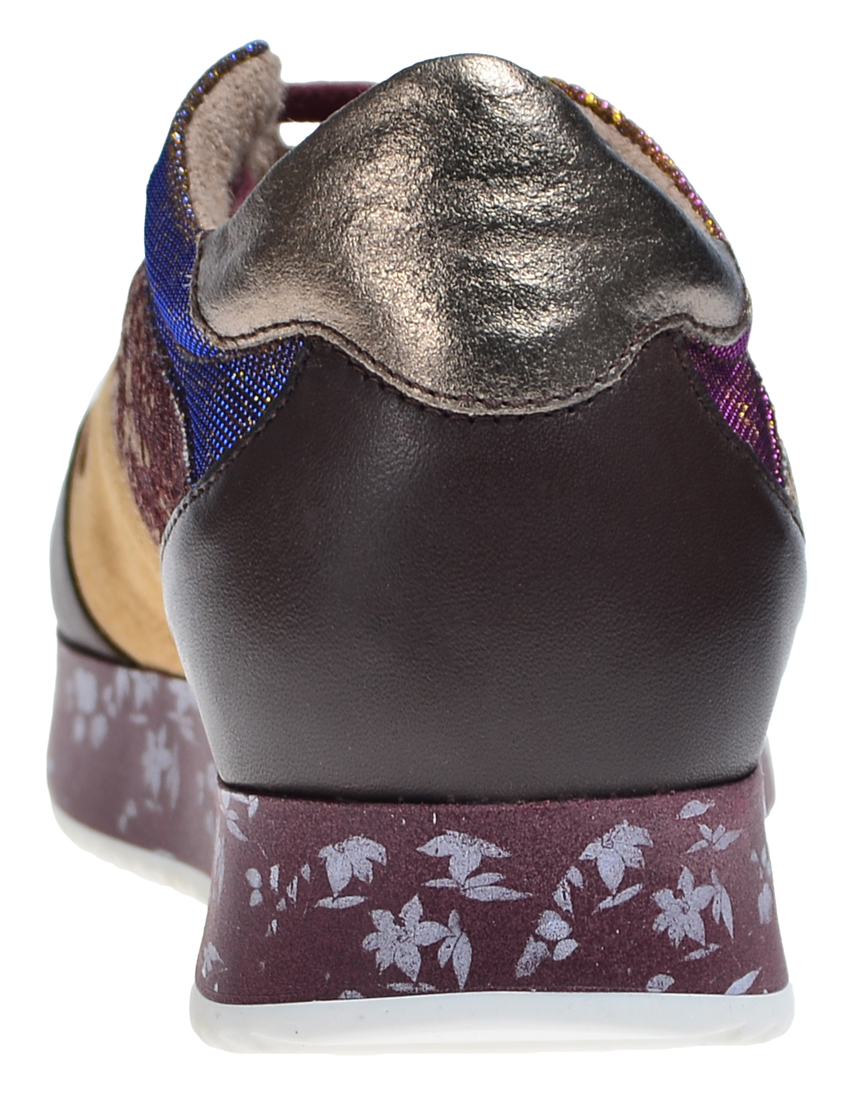 Замшевые цветные кроссовки TWIN-SET (ITALY)