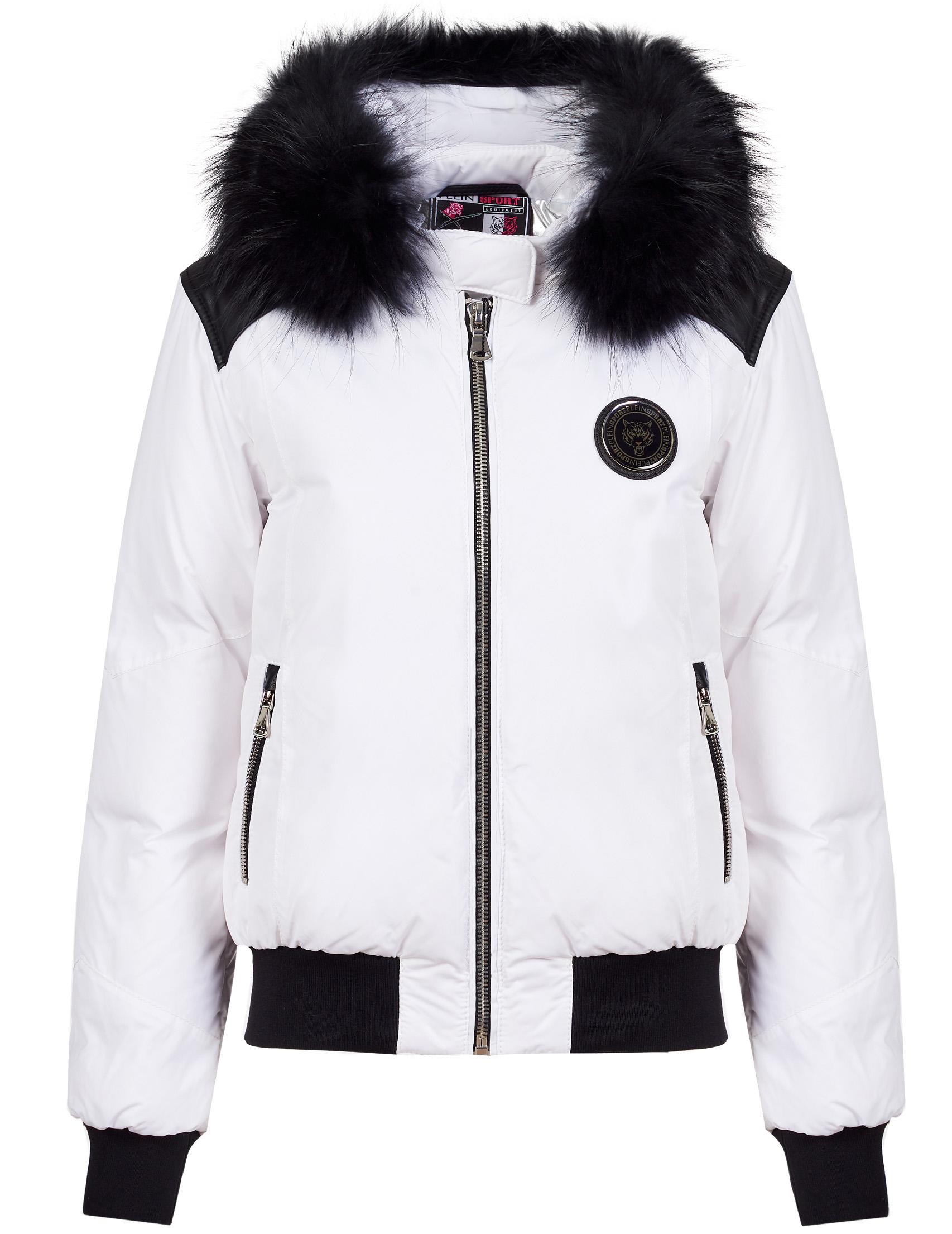 Купить Куртки, Куртка, PLEIN SPORT, Белый, 100%Полиэстер;100%Кожа, Осень-Зима