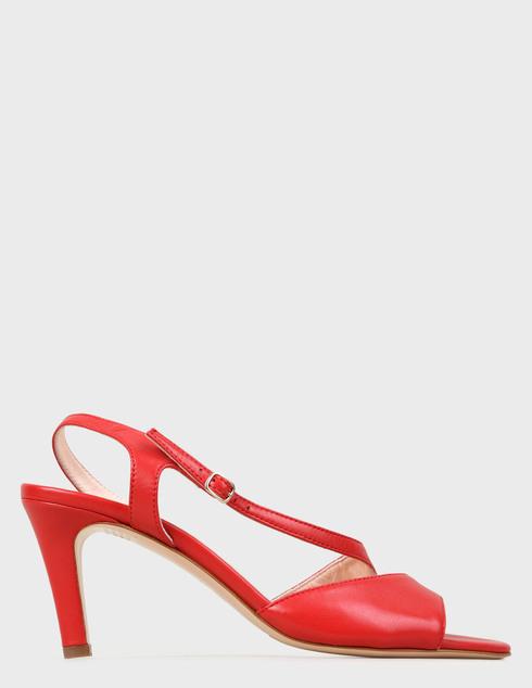 женские красные кожаные Босоножки Agl D636044PCSOFTY0356 - фото-5