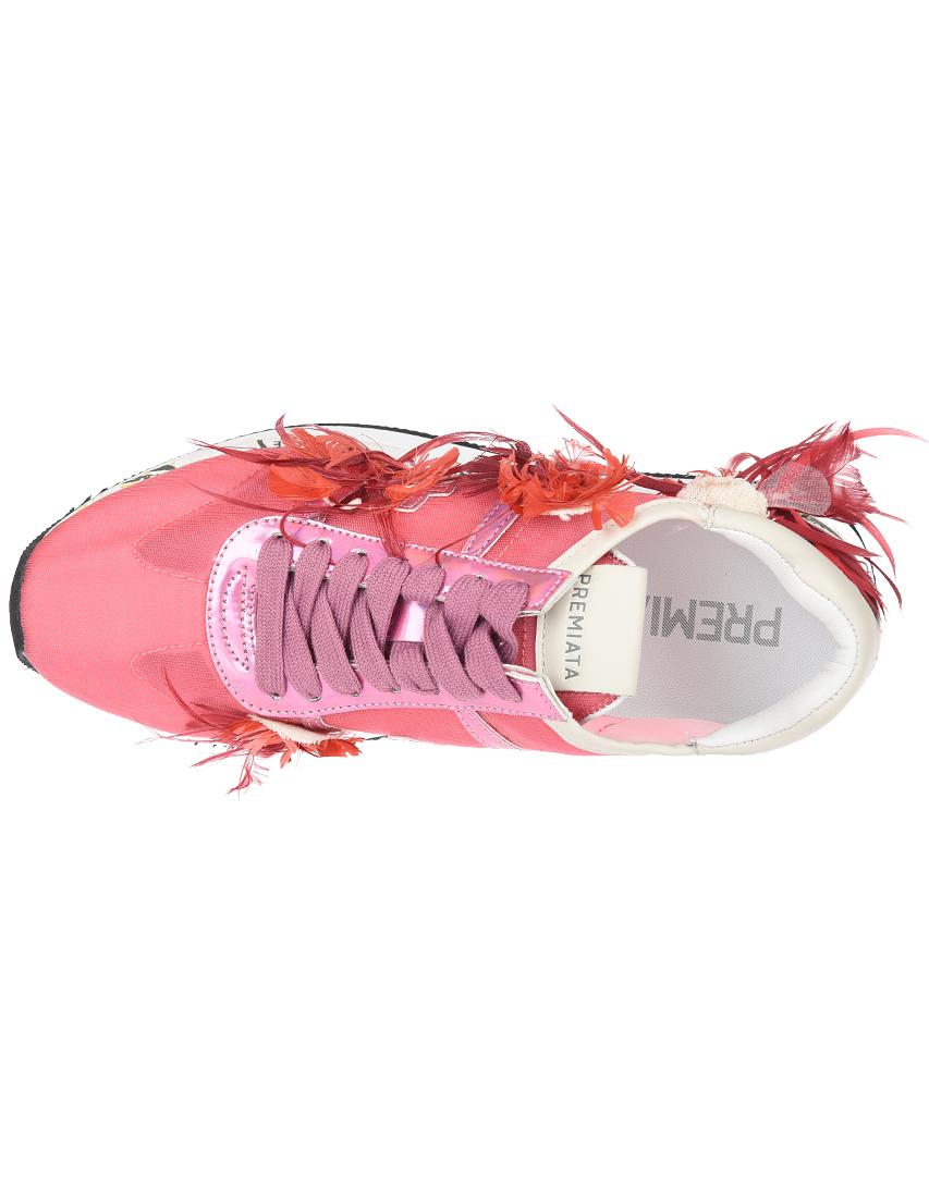Текстильные розовые кроссовки PREMIATA (ITALY)