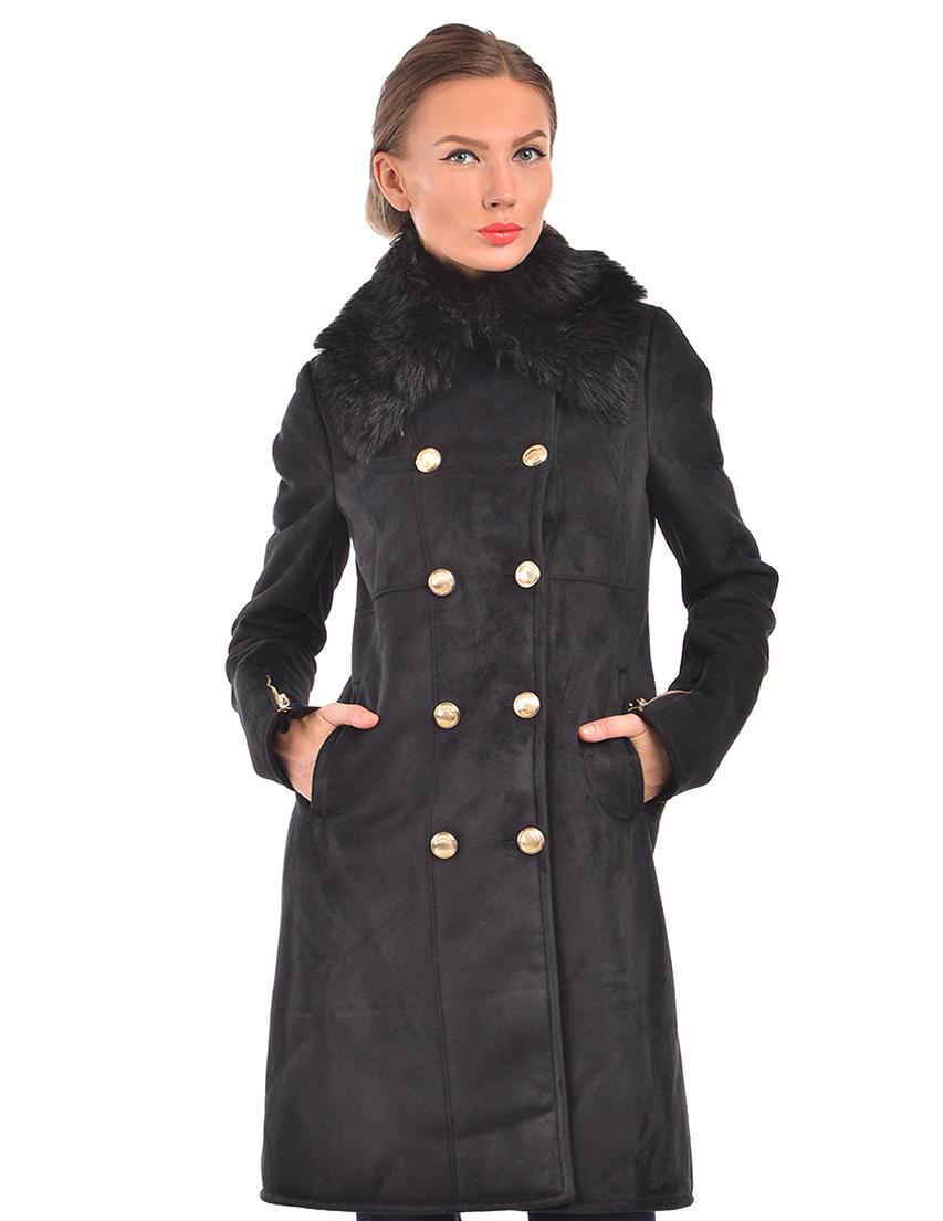 Купить Пальто, PATRIZIA PEPE, Черный, 80%Акрил 20%Полиэстер, Осень-Зима