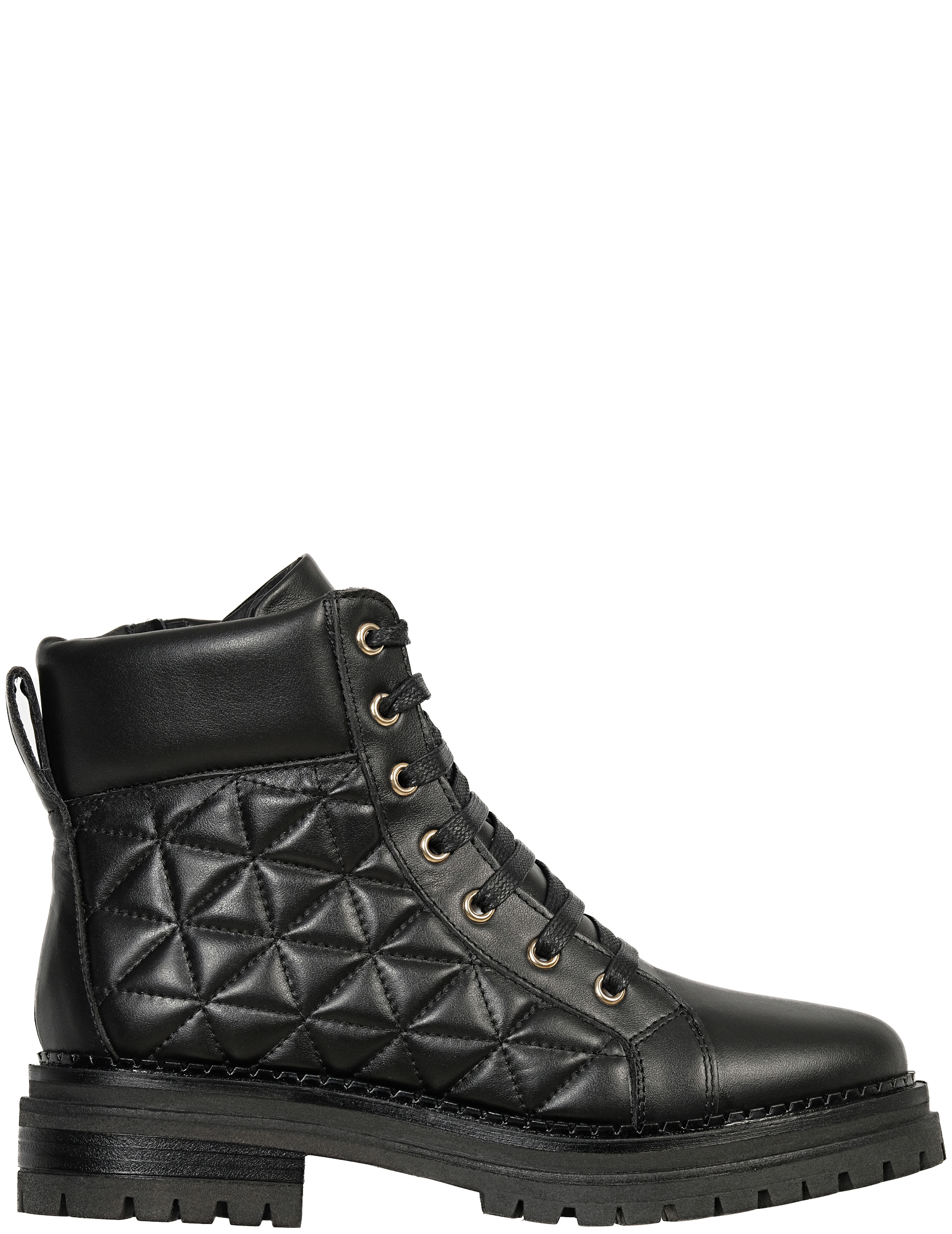 Купить Ботинки, STOKTON, Черный, 100%Кожа, Осень-Зима