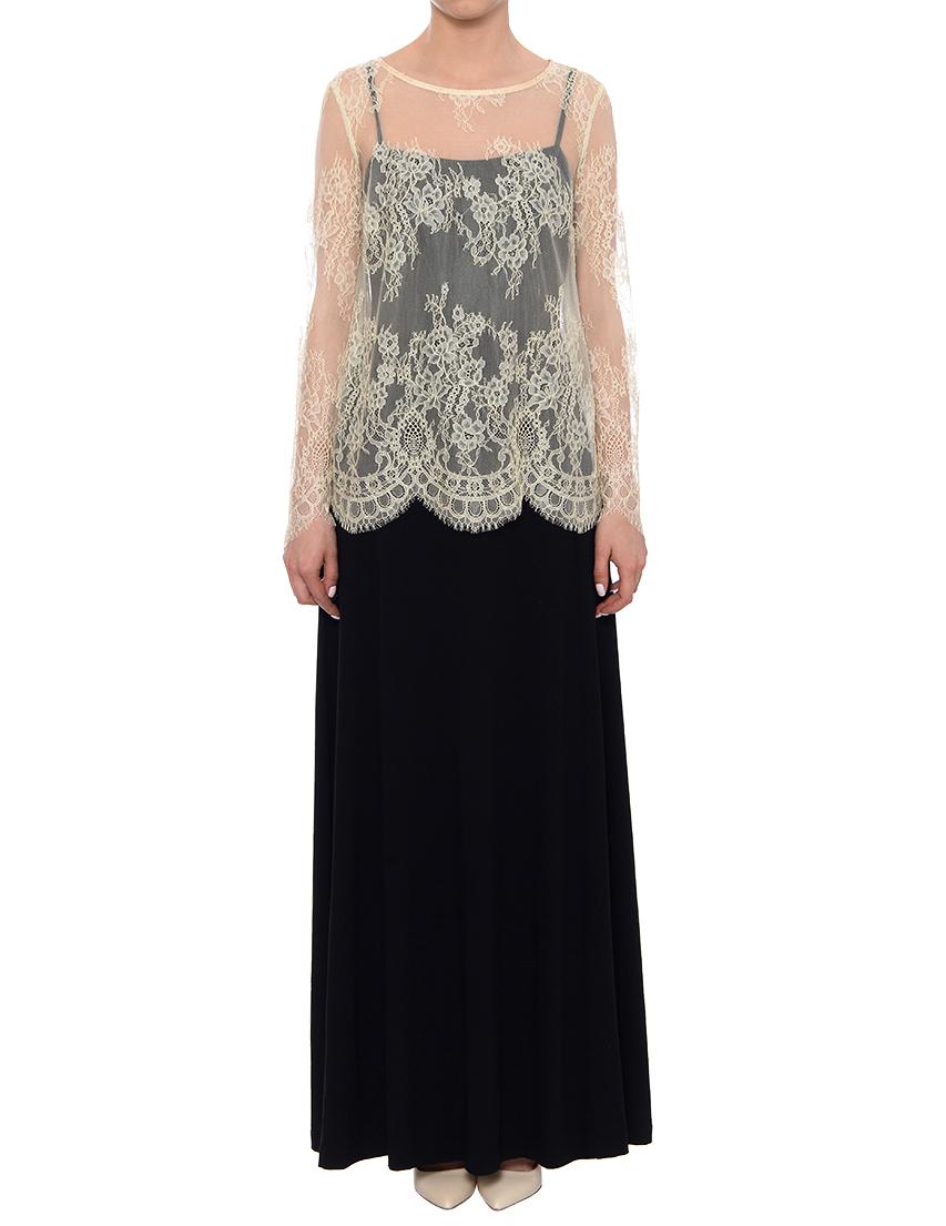 Купить Платье, TWIN-SET, Черный, 94%Вискоза 6%Эластан, Весна-Лето