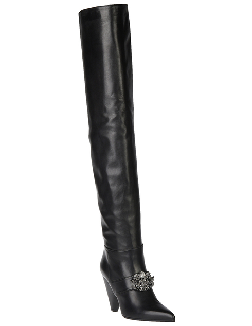 женские черные Ботфорты H'estia Venezia 9624_black - фото-2